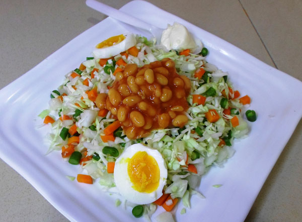 Nigerian vegetable salad recipe
