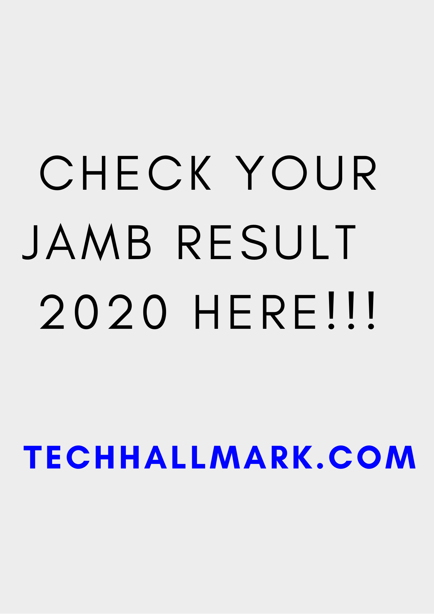 How can i check my jamb result
