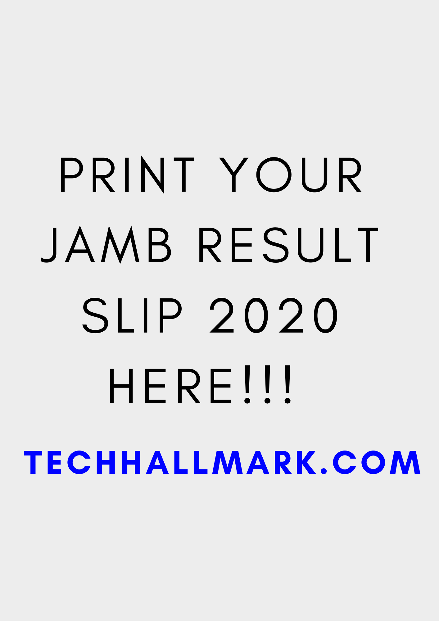 How to print original jamb result