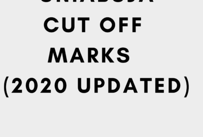 UNIABUJA Cut Off Mark 2020