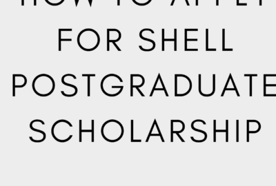 Shell Postgraduate scholarship