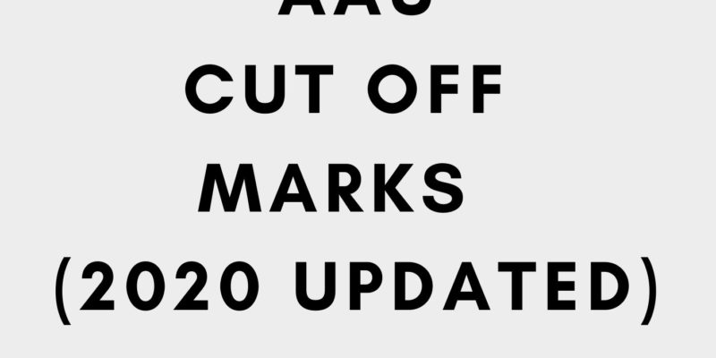 AAU cut off marks 2020