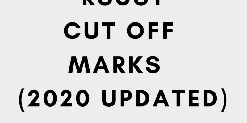 RSUST cut off marks 2020